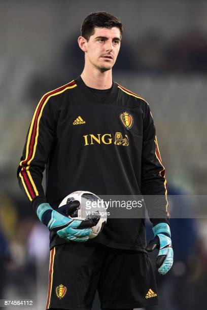 goalkeeper Thibaut Courtois of Belgium during the friendly match between Belgium and Japan on November 14 2017 at the Jan Breydel stadium in Bruges...