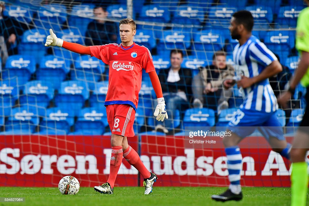Goalkeeper Thomas Kaminski of FC Copenhagen. The Danish Alka Superliga match between Esbjerg fB and FC Copenhagen at Blue Water Arena on May 26, 2016 in Esbjerg, Denmark.
