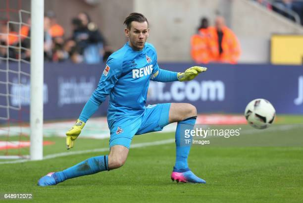 Goalkeeper Thomas Kessler of Cologne in action during the Bundesliga match between 1 FC Koeln and Bayern Muenchen at RheinEnergieStadion on March 4...