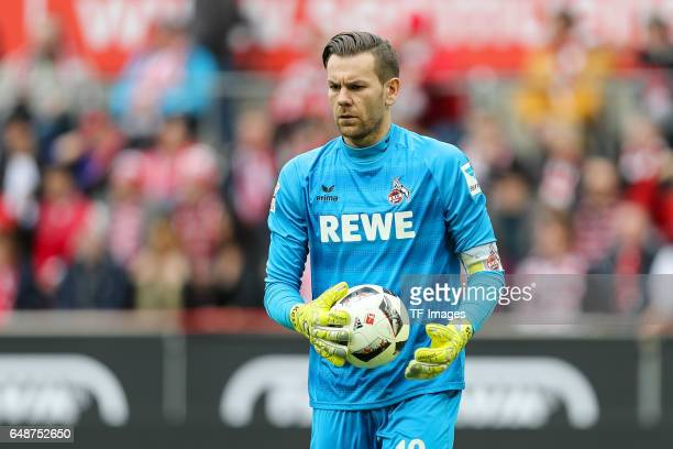 Goalkeeper Thomas Kessler of Cologne looks on during the Bundesliga match between 1 FC Koeln and Bayern Muenchen at RheinEnergieStadion on March 4...