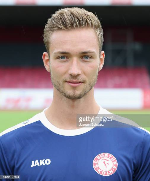 Goalkeeper Tim Boss of Fortuna Koeln poses during the team presentation at Suedstadion on July 12 2017 in Cologne Germany