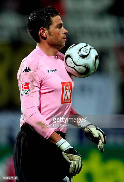 Goalkeeper Tim Wiese is seen during the Efes Pilsen Cup match between Borussia Dortmund and Werder Bremen at the Ataturk Stadium on January 8 2006 in...