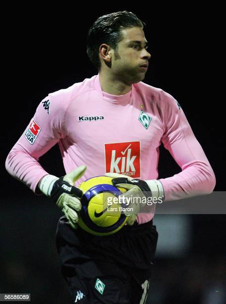 Goalkeeper Tim Wiese of Bremen is seen during the friendly match between Werder Bremen and Fenerbahce on January 13 2006 in Antalya Turkey