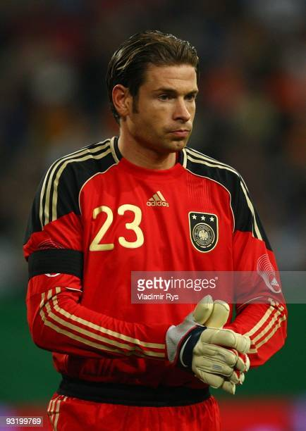 Goalkeeper Tim Wiese of Germany looks on during the international friendly match between Germany and Ivory Coast at the Schalke Arena on November 18...