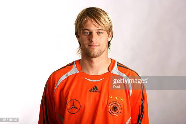 Goalkeeper Timo Hildebrand of Germany attends a photocall of the German National Football Team on January 31 2006 in Duesseldorf Germany