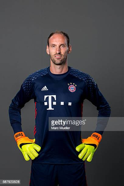 Goalkeeper Tom Starke of FC Bayern Munich pose during the team presentation on August 10 2016 in Munich Germany