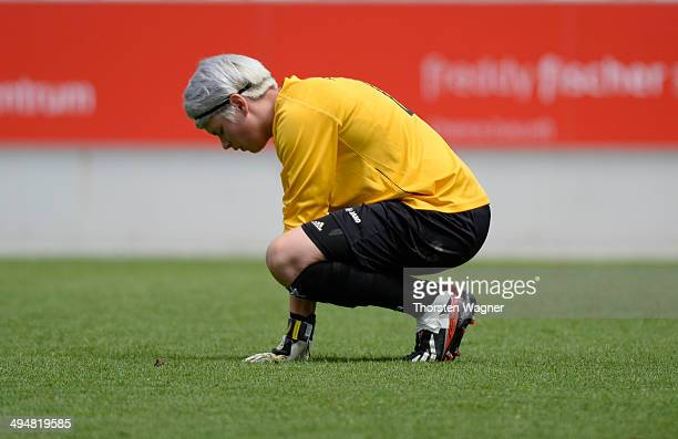 Goalkeeper Vanessa Fischer of Potsdam looks dejected after loosing the girls bjunior final match between FC Bayern Muenchen and 1FFC Turbine Potsdam...
