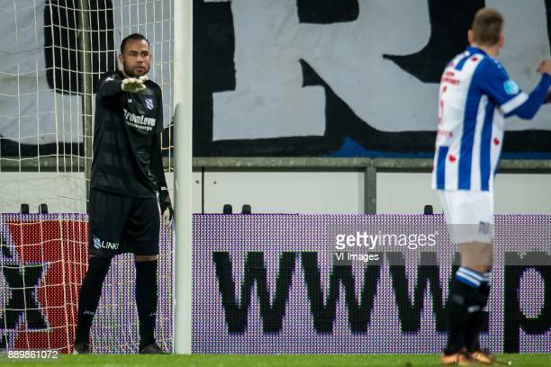 goalkeeper Warner Hahn of sc Heerenveen during the Dutch Eredivisie match between sc Heerenveen and VVV Venlo at Abe Lenstra Stadium on December 09...
