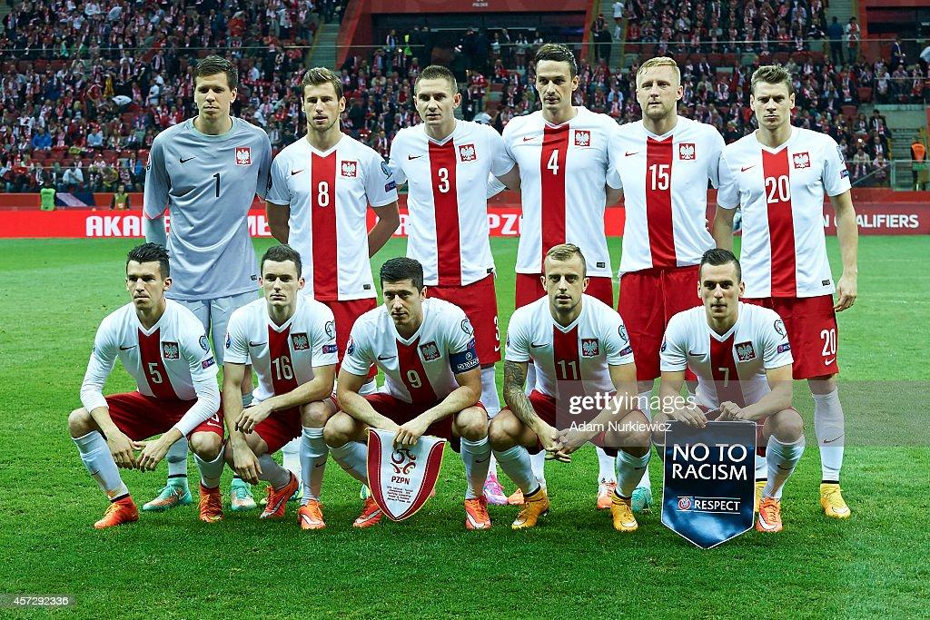 Goalkeeper Wojciech Szczesny and Grzegorz Krychowiak and Artur Jedrzejczyk and Lukasz Szukala and Kamil Glik and Lukasz Piszczek and Waldemar Sobota...