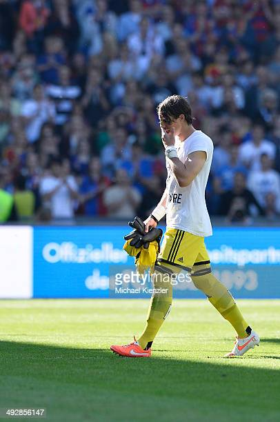 Goalkeeper Yann Sommer of Basel leaving pitch during the Raiffeisen Super League match between FC Basel and FC Lausanne Sport at St JakobPark stadium...