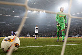 Goalkeeper Yann Sommer of Borussia Monchengladbach looks dejected after Leon Goretzka of Schalke shoots and scores his teams second goal of the game...