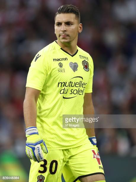 goalkeeper Yoan Cardinale of OCG Nice during the UEFA Champions League third round qualifying first leg match between Ajax Amsterdam and OGC Nice at...