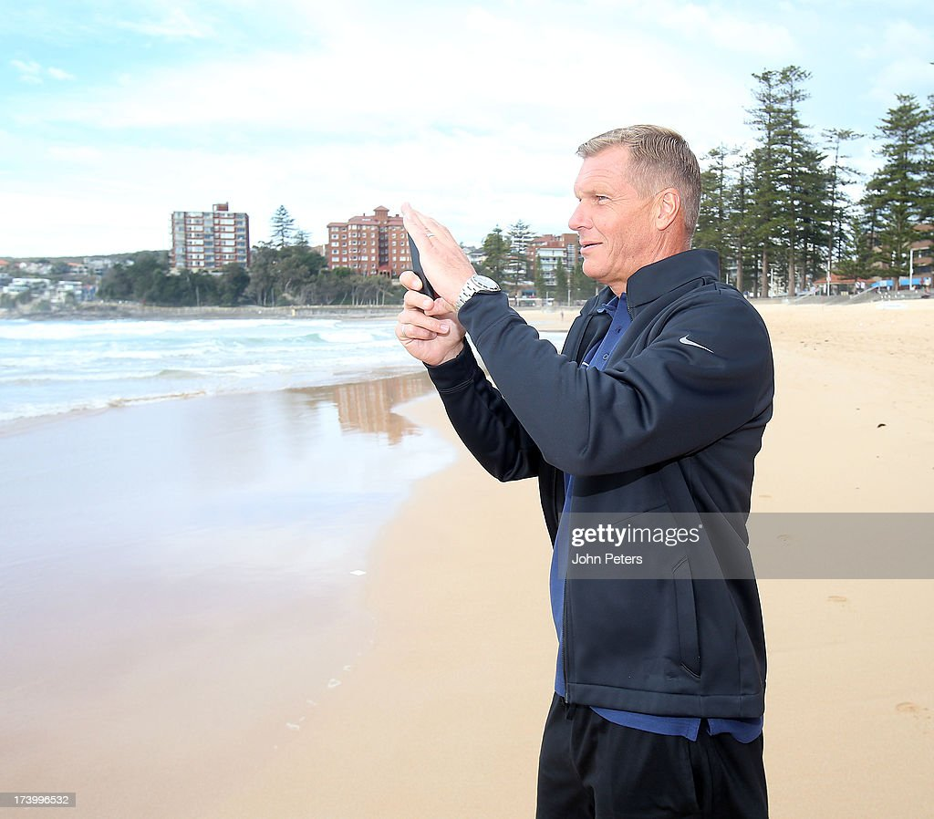 Goalkeeping Coach Chris Woods of Manchester United visits Manley Beach as part of their pre-season tour of Bangkok, Australia, China, Japan and Hong Kong on July 19, 2013 in Sydney, Australia.