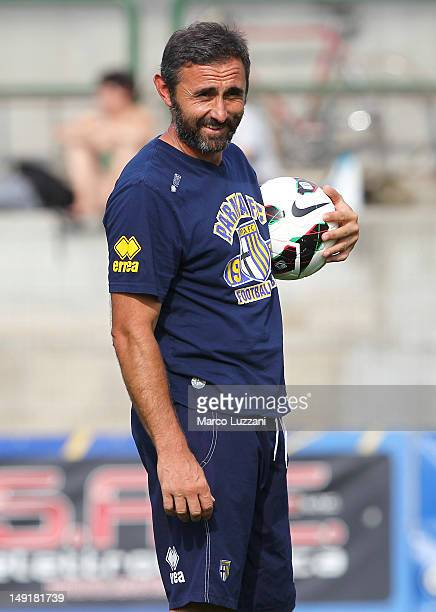 Goalkeeping coach Luca Bucci of FC Parma looks on during day eleven of the FC Parma preseason training camp on July 24 2012 in Levico Terme near...