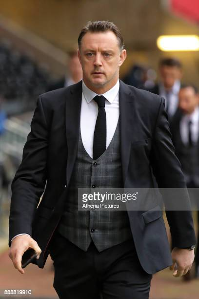 Goalkeeping coach Tony Roberts arrives prior to the game during the Premier League match between Swansea City and West Bromwich Albion at The Liberty...