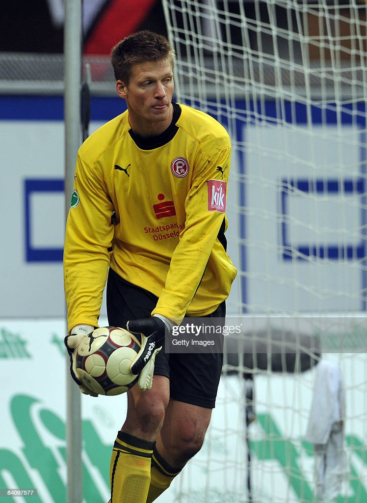 Goalkeper Michael Melka of Duesseldorf during the 3 Liga match between SC Paderborn and Fortuna Duesseldorf at the Paragon Arena on December 20 2008...