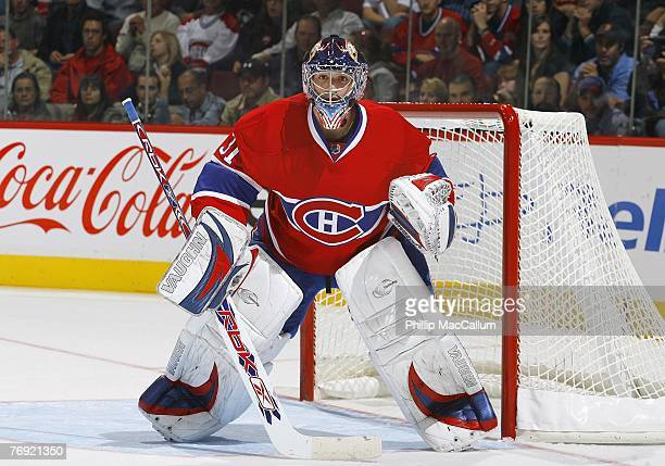 Goaltender Carey Price of the Montreal Canadiens defends his net during a preseason game against the Pittsburgh Penguins on September 18 2007 at the...