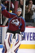 Goaltender Craig Anderson of the Colorado Avalanche was named the first star of the game against the Chicago Blackhawks at the Pepsi Center on...