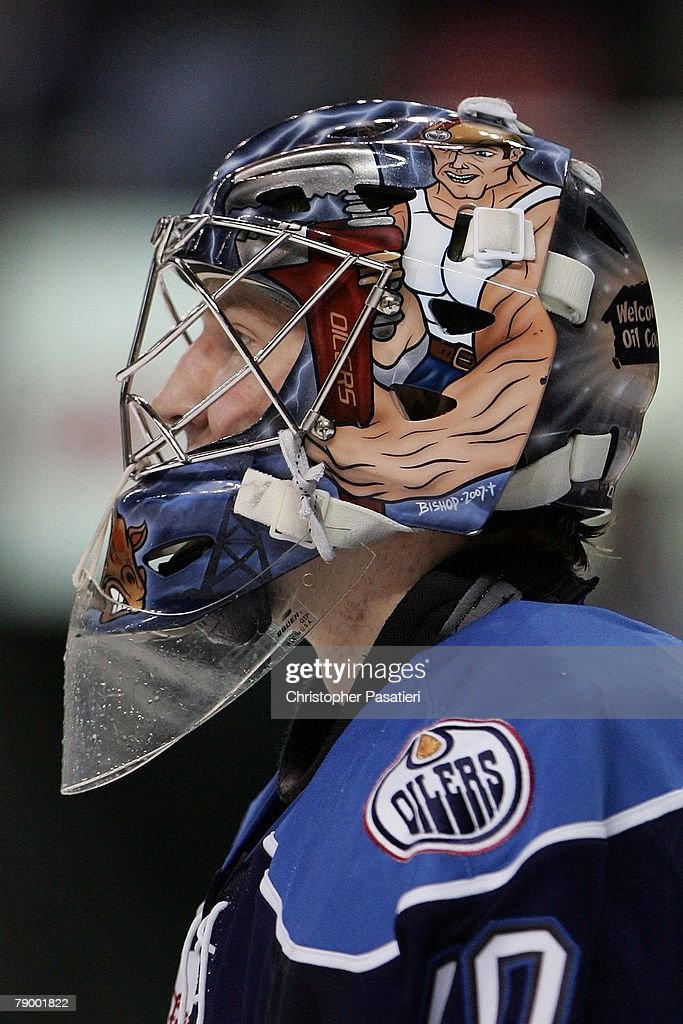 Goaltender Devan Dubnyk of the Springfield Falcons during the third period against the Bridgeport Sound Tigers on January 12 2008 at the Arena at...