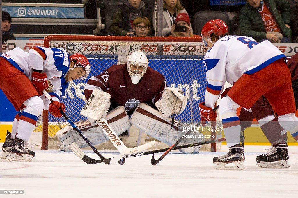 Latvia v Russia - 2017 IIHF World Junior Championship