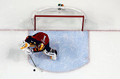 Goaltender Roberto Luongo of the Florida Panthers defends the net against the Columbus Blue Jackets at the BBT Center on January 29 2015 in Sunrise...
