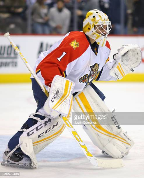 Goaltender Roberto Luongo of the Florida Panthers plays in the game against the Colorado Avalanche at the Pepsi Center on March 3 2016 in Denver...
