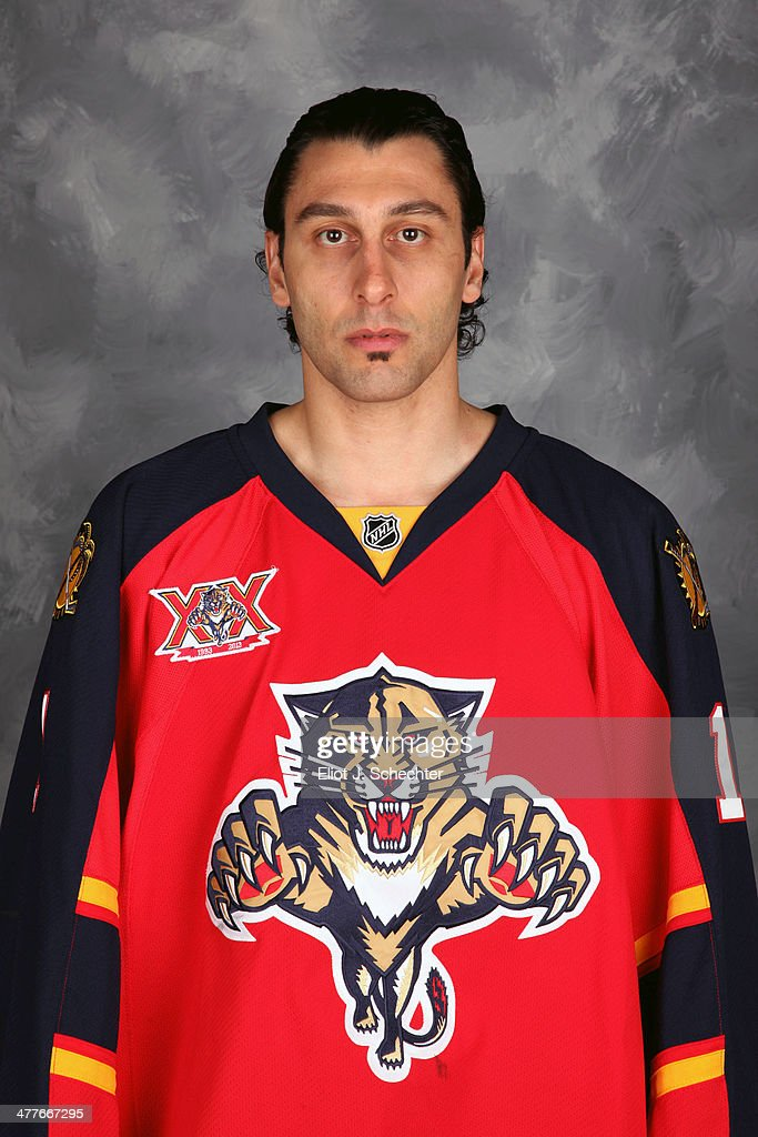 Goaltender <a gi-track='captionPersonalityLinkClicked' href=/galleries/search?phrase=Roberto+Luongo&family=editorial&specificpeople=202638 ng-click='$event.stopPropagation()'>Roberto Luongo</a> #1 of the Florida Panthers poses for his official headshot for the 2013-2014 NHL season.