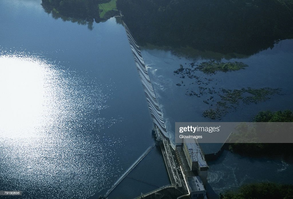 Goat Rock hydroelectric dam, Georgia, USA : Foto de stock