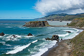 Goat Rock area along Northern California's rugged coast, Sonoma County
