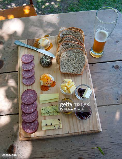 Goats cheese, salami, craft beer, Sneeuberg Brewery & 2Goats Deli, Nieu Bethesda, South Africa    19/12/2013