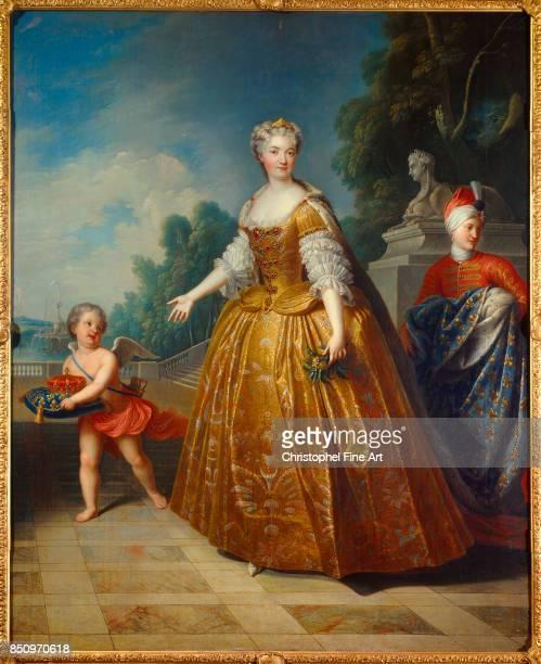 Gobert Pierre Full Length Portrait of Marie Leszczynska Queen of France 1726 Nancy Musee Historique Lorrain