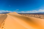 Singing sand dunes in the Mongolian Gobi Desert