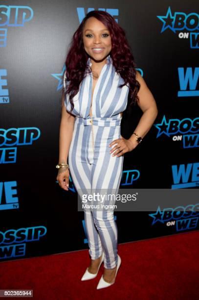 Gocha Hawkins attends 'Bossip On WE' Atlanta launch celebration at Elevate at W Atlanta Midtown on June 27 2017 in Atlanta Georgia
