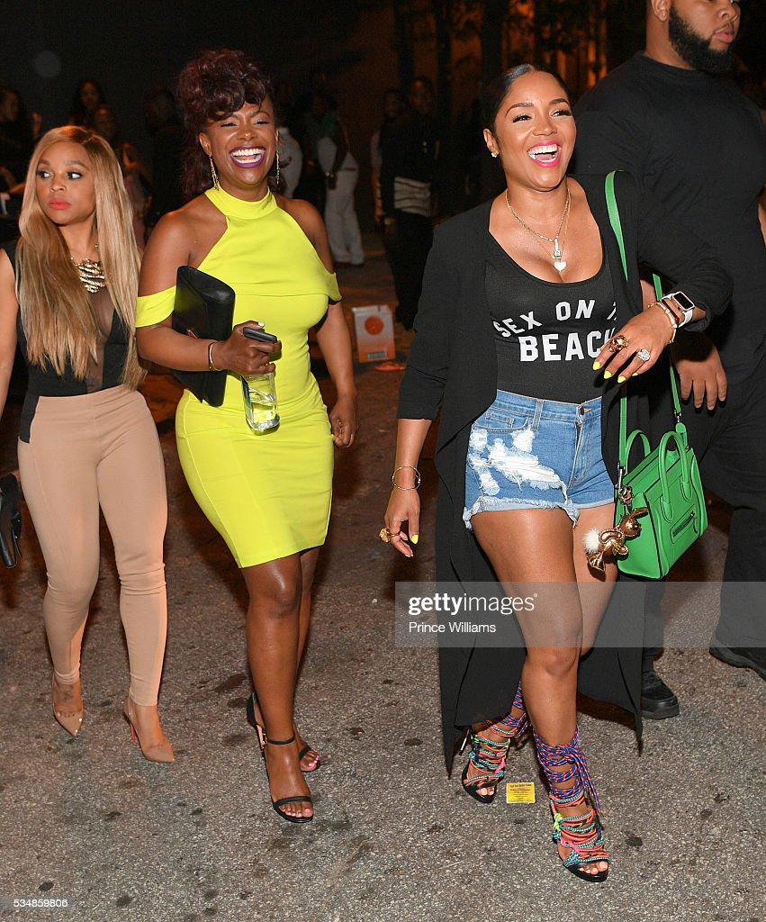 Gocha Hawkins, <a gi-track='captionPersonalityLinkClicked' href=/galleries/search?phrase=Kandi+Burruss&family=editorial&specificpeople=4401257 ng-click='$event.stopPropagation()'>Kandi Burruss</a> and Rasheeda attend the Love and Hip Hop take Over at Prive on May 28, 2016 in Atlanta, Georgia.