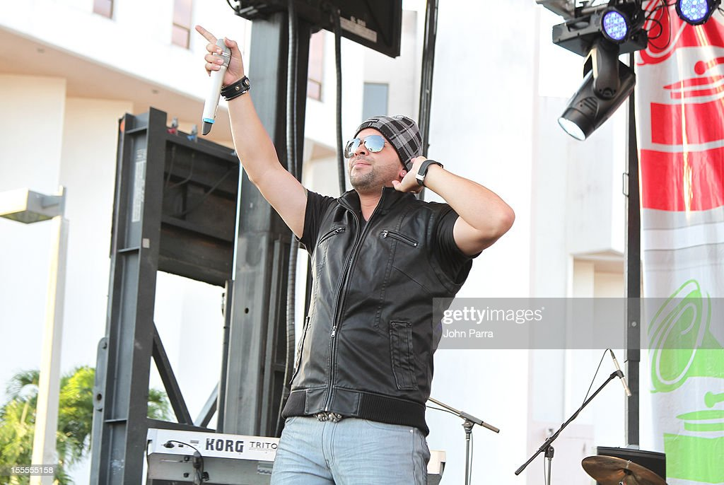 Gocho performs at Latin Grammy Street Party 2012 on November 4, 2012 in Hialeah, Florida.