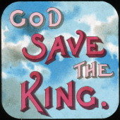 'God Save the King' early 20th century Lantern slide