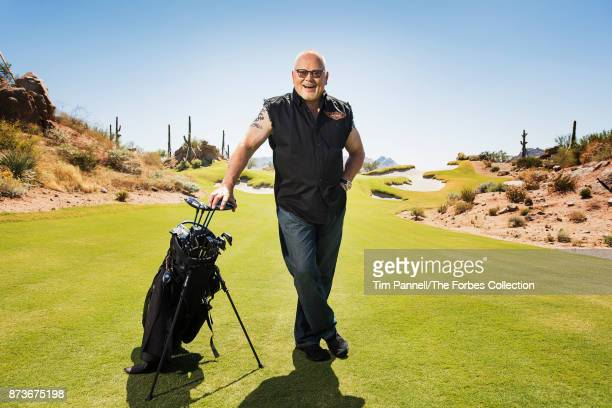 GoDaddy founder Bob Parsons is photographed for Forbes Magazine on September 20 2017 at the Scottsdale National Golf Club in Scottsdale Arizona...