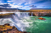 Godafoss waterfall, north of Iceland