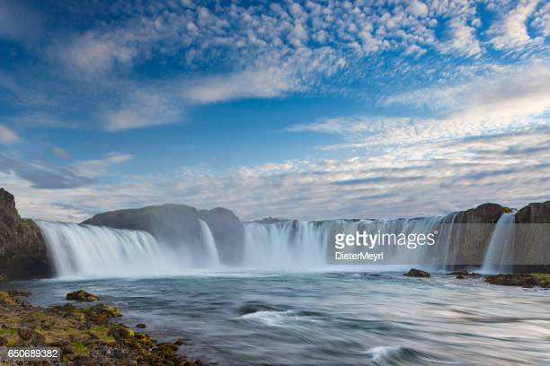 Godafoss waterfall, long exposure, Iceland