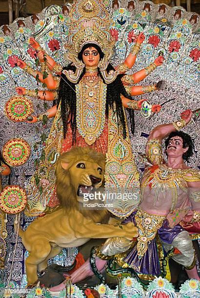 Goddess Durga Durga Puja Festival Bashirhat Kolkata West Bengal India