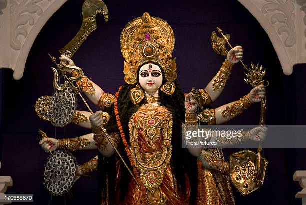 Goddess Durga Durga Puja Festival Kolkata West Bengal India