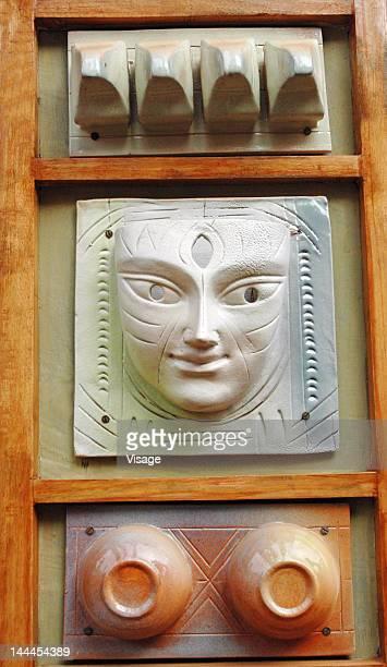 Goddess Durga idol, plaque