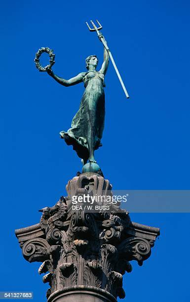 Goddess of Victory statue by Robert Ingersoll Aitken atop the Dewey Monument in Union Square San Francisco California United States of America