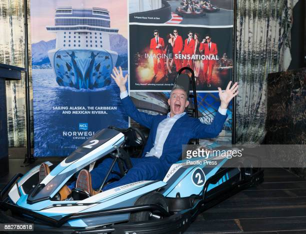 Godfather Elvis Duran attends celebration of Norwegian Cruise Line newest ship Bliss at PND lounge The Dream Downtown