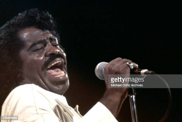 'Godfather of Soul' James Brown performs on the TV show 'Midnight Special' in 1974 in Los Angeles California