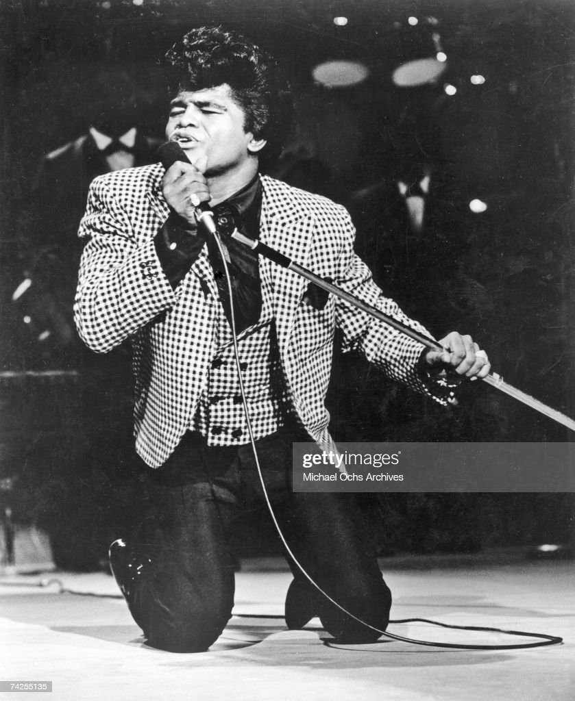 'Godfather of Soul' James Brown performs onstage at the TAMI Show on December 29 1964 at the Santa Monica Civic Auditorium in Santa Monica California