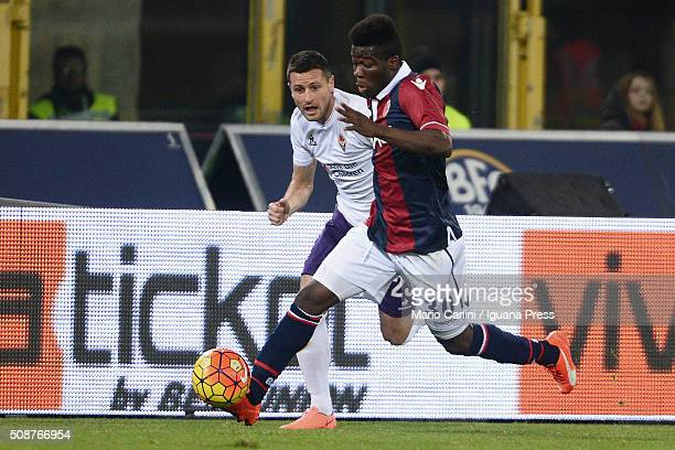 Godfred Donsah of Bologna FCin action during the Serie A match between Bologna FC and ACF Fiorentina at Stadio Renato Dall'Ara on February 6 2016 in...