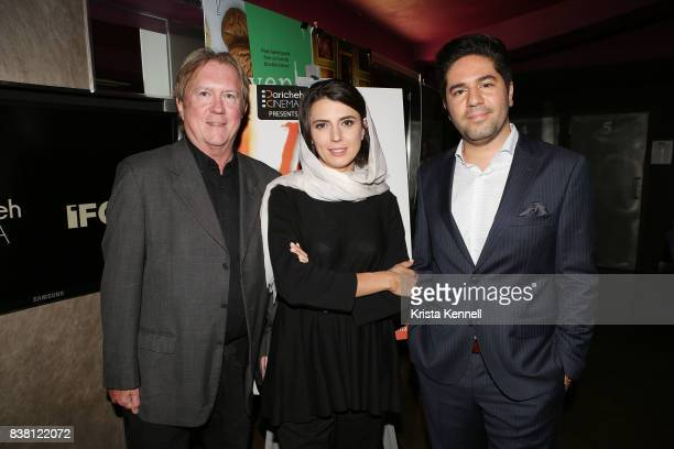 Godfrey Cheshire Leila Hatami and Armin Miladi attend Daricheh Cinema NY Features Special Guest Leila Hatami at IFC Center on August 23 2017 in New...