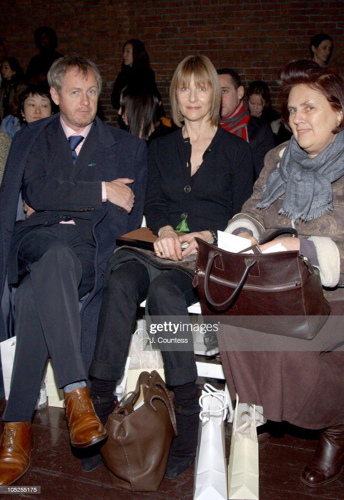 Godfrey Deeny Jane Cattani and Suzy Menkes during Olympus Fashion Week Fall 2004 Sebastian Pons Front Row at Angel Orensanz Foundation in New York...