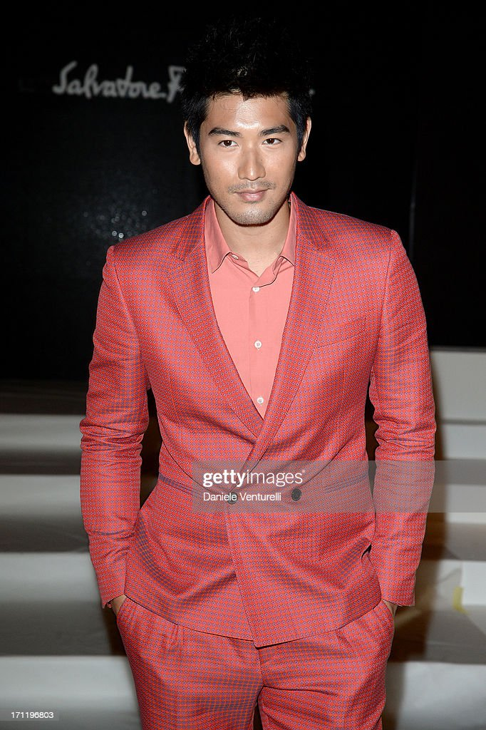 Godfrey Gao attends the 'Salvatore Ferragamo' show as part of Milan Fashion Week Spring/Summer 2014 on June 23, 2013 in Milan, Italy.